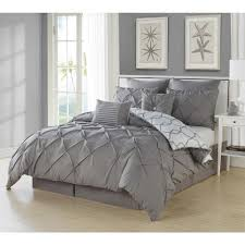 this review is from esy pintuck reversible grey 8 piece queen comforter set