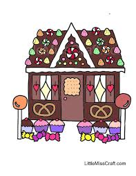 Small Picture Crafts Gingerbread House Coloring Page