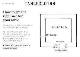standard oblong tablecloth sizes oval size chart