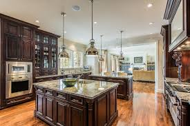 french provincial lighting. mahogany cabinet kitchen in french provincial home lighting