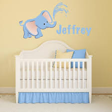 personalized elephant name wall decal