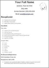 Create Resume For Free Interesting Free Create A Resume Simple Resume Template Hongbome