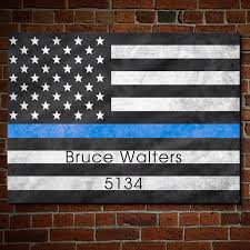 7143 proud to serve american flag wall art police officers jpg