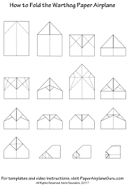 Paper Airplane Patterns Cool Design