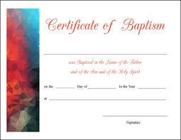 Sample Baptism Certificate Template Impressive Certificate Of Baptism Word Template Colesecolossus Water Baptism