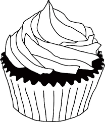 cupcake drawing black and white. Exellent White Black And White Cupcake By Maydaze  Redbubble  Clipart Library On Cupcake Drawing Black And White P