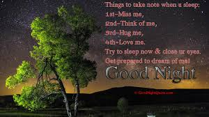Good Night Dear Romantic Things To Take Note When You Sleep