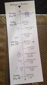 Wedding Itinerary Destination Wedding Itinerary For Welcome Bag Crafts Décor 3