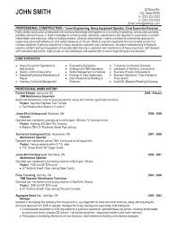 Construction Superintendent Resume Examples And Samples Mechanical