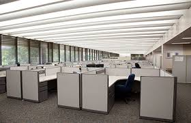 lighting in an office. ge fluorescent office lighting feature in an e