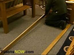 wood futon frame embly