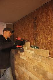 installing mortarless stone veneer