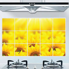 Small Picture Aliexpresscom Buy Oil proof Kitchen Sticker Name Sunflowers