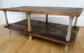 stair banisters upcycled into a tv stand