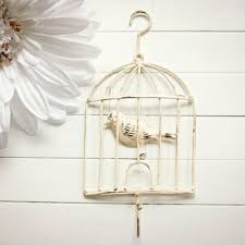 shabby chic bird cage decor bird cage hook metal bird cage wall hanging