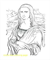 Mona Lisa Coloring Page Goldenmagme