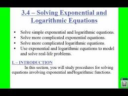 pc 3 4 notes example 1 solving simple exp and log equations