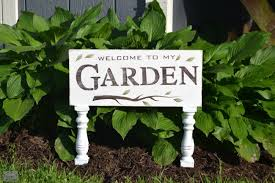 garden sign. How To Make Rustic Signs For The Garden Using Stencils Www.homeroad.net Sign S