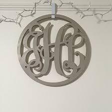 12 36 inch circle wooden monogram letters vine room decor nursery decor wooden monogram wall
