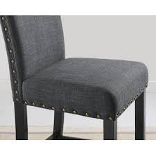 gray counter stools. Furnituremaxx Biony Gray Fabric Counter Height Stools With Nailhead Trim, Set Of 2 1 S