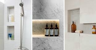bathroom shelves decor. 12 Design Ideas For Including Built In Shelving Your Shower Bathroom Shelves Decor 5