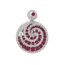 ruby diamond circular swirl pendant prev