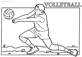 Volleyball coloring pages are a good way for kids to develop their habit of coloring and painting, introduce them new colors, improve the creativity and motor skills. Printable Volleyball Coloring Pages For Kids