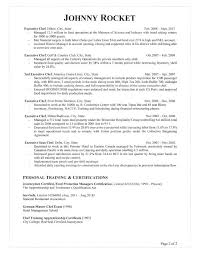 Corporate Executive Chef Sample Resume