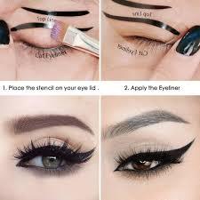 eyeliner stencil sticker resume elv cat smokey eye makeup stencils repeatable use card