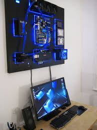 wall mounted water cooled pc the recoilmachine rig gallery custom computers custom gaming computer