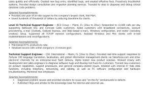 Resume Setup Example Mesmerizing Technical Support Resume Examples Technical Support Resume Samples