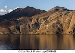 Barren mountains of pangong lake in ladakh, india, asia. Barren mountains  of pangong lake during sunset in ladakh, india, | CanStock