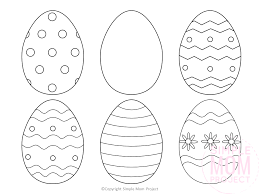 For hours of collaborative coloring fun, we have a giant easter egg coloring page made of 6 printed sheets. 10 Splendi Coloring Pages Of Easter Eggs Jaimie Bleck