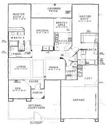 ... 2 Story House Plans With Master Bedrooms Homes Zone Regard To Two  Suites On First Floor ...