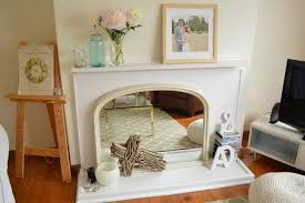 gas fireplace without mantle home design ideas