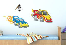 dragster race car wall decal nursery room decor stickers decals themed