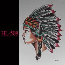 индийские племена девушка 3d татуировки временные татуировки