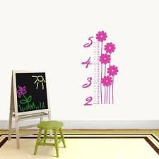 image 0 growth chart wall decal tree ruler sticker robot upstairs height measure wall sticker for