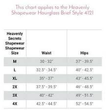Heavenly Shapewear Size Chart 1day Sale