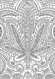 Trippy Weed coloring page | Free Printable Coloring Pages