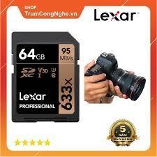 Thẻ nhớ Máy Ảnh SD 64GB Lexar Professional 633x Class10 U3 95Mb/s - Tốc Độ  Siêu Cao