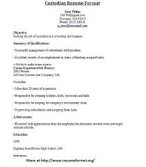 Custodian Resume Sample 2 Janitor