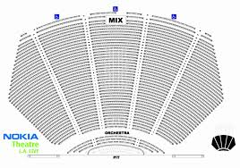 Nokia Center Seating Chart Unbiased Msg Interactive Seating Nokia Theater Seating Chart