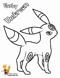 Umbreon Coloring Pages - FunyColoring