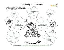 Small Picture Lucky Food Pyramid Coloring Page St Patricks Day Theme
