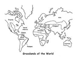 Small Picture World Map Map Grasslands Outline in World Map Coloring Page
