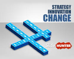 Innovation Strategy Powerpoint Template With 3d Text Blocks