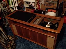 stereo phonic high fidelity 1950's magnavox console stereo antique ...