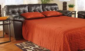 ashley furniture sofa bed alliston durablend chocolate queen sleeper a 1