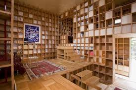 wooden house furniture. Unique Wooden House That Covered With Bookshelves Furniture R